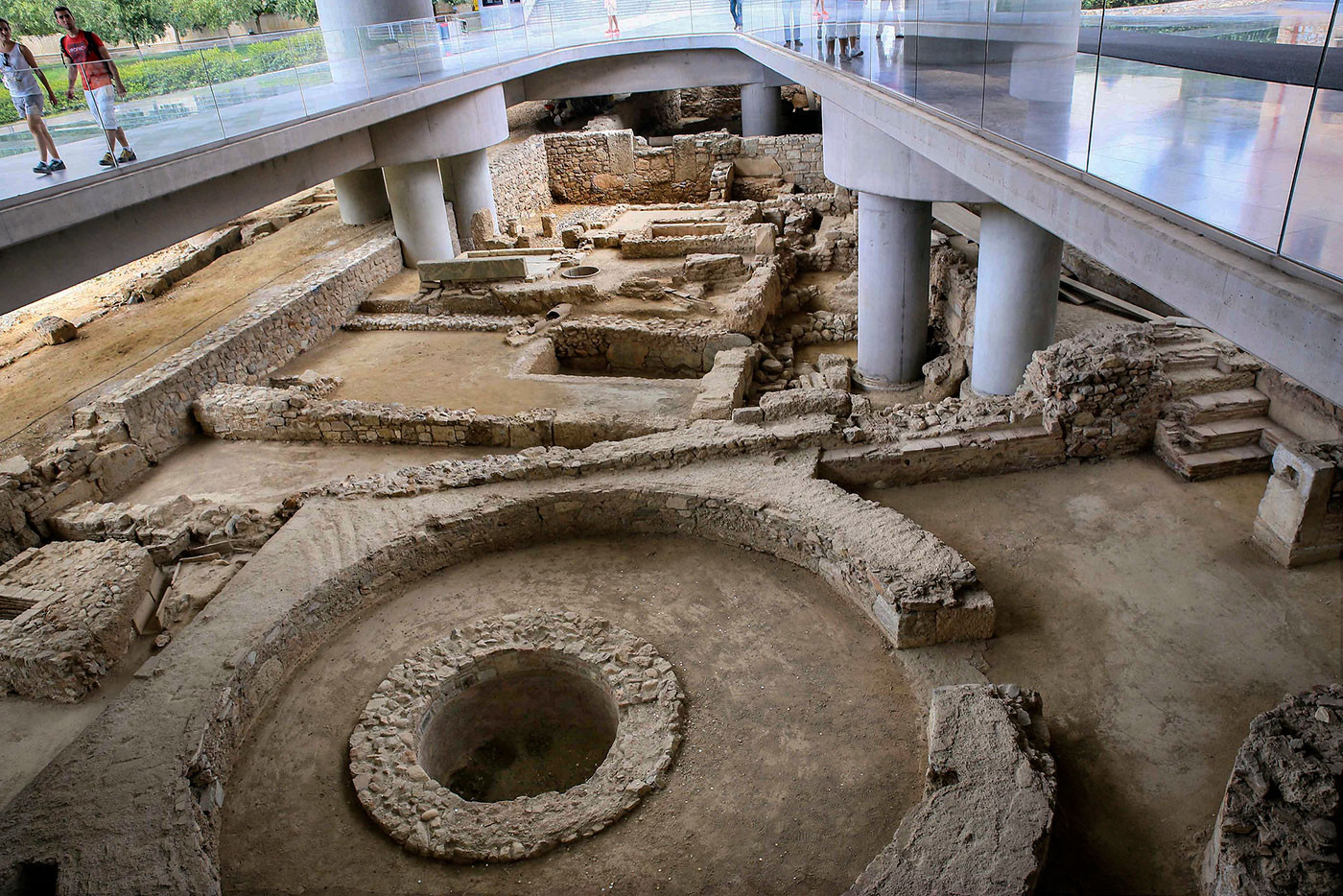 The Excavation Site Under the New Acropolis Museum