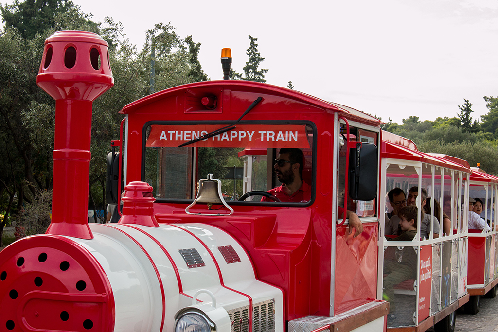 Athens-happy-train